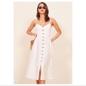 Reformation Thelma Dress in White